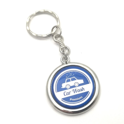 Metal keychain round 23mm two-sided