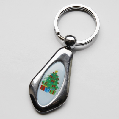 Metal keychain 31x13mm one-sided