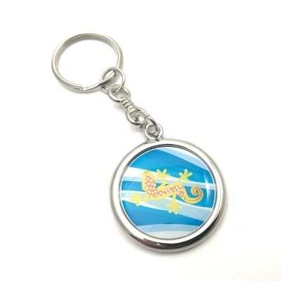 Metal keychain round 27mm two-sided